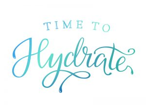 Hand drawn Brush Lettering Vector Design Template. Modern calligraphy. Time to hydrate